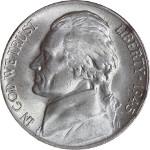 1945-P Jefferson War Nickel Obverse 35% Silver