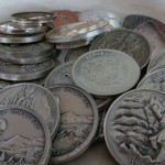 A pile of silver rounds